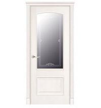 фото: Дверь ПО Рио ясень бланко, стекло Вояж из Шпон