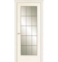 фото: Дверь ПО Монтана ясень карамель, стекло Клетка из Шпон