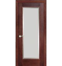 фото: Дверь ПО Монтана красное дерево, стекло Фацет из Шпон