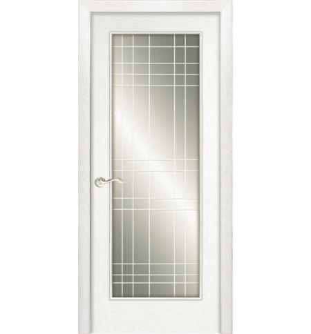 фото: Дверь ПО Монтана ясень бланко, стекло Сетка из Шпон