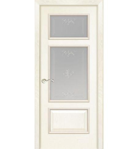 фото: Дверь ПО Монреаль ясень карамель, стекло Готика из Шпон