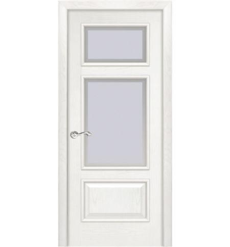 фото: Дверь ПО Монреаль ясень бланко, стекло Фацет из Шпон