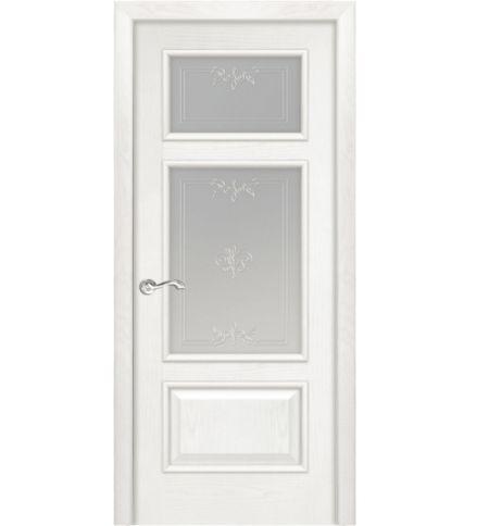 фото: Дверь ПО Монреаль ясень бланко, стекло Готика из Шпон