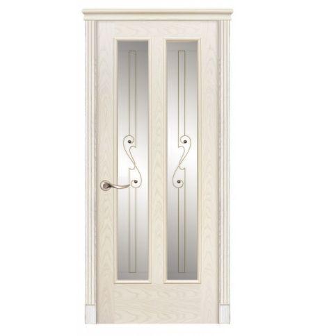 фото: Дверь ПО Бристоль ясень карамель, стекло Лира из Шпон