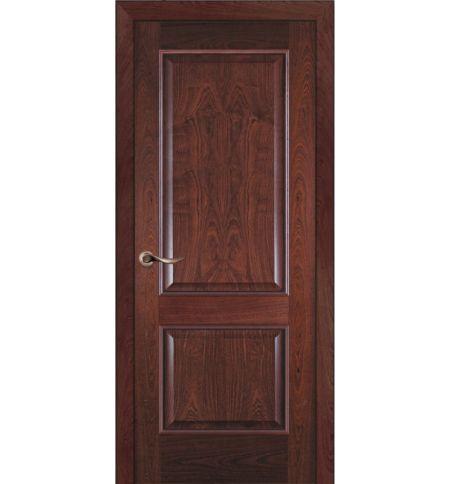 фото: Дверь ПГ Твинс красное дерево из Шпон