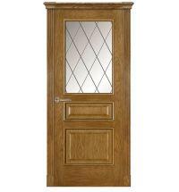 фото: Дверь ПО Пронто дуб миндаль, стекло Ромб из Шпон