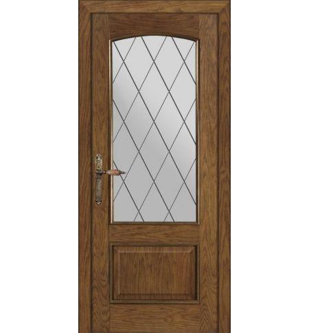 фото: Дверь ПО Рио дуб миндаль, стекло Ромб из Шпон