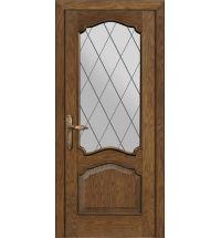 фото: Межкомнатная дверь ПО Сидней дуб миндаль, стекло Ромб из Шпон