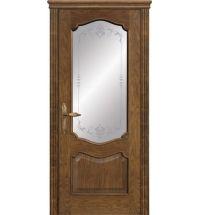 фото: Межкомнатная дверь ПО Тампа дуб миндаль, стекло Арабеска из Шпон