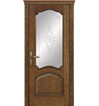 фото: Межкомнатная дверь ПО Сидней дуб миндаль, стекло Триумф из Шпон