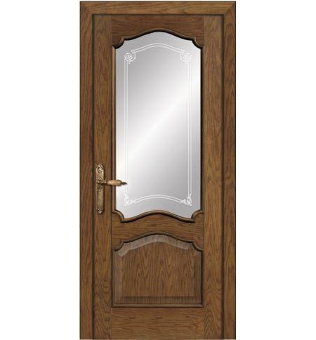 фото: Дверь ПО Сидней дуб миндаль, стекло Моделло из Шпон