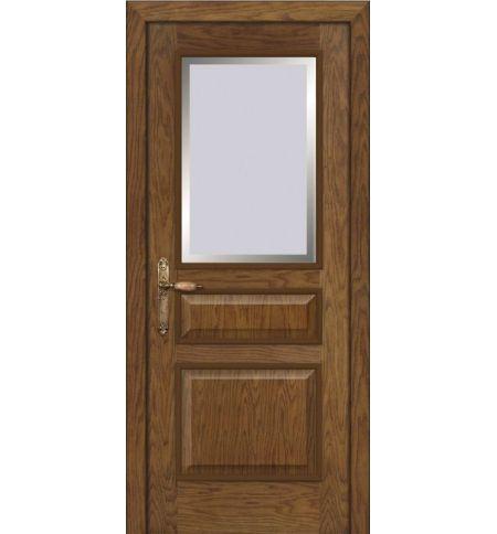 фото: Дверь ПО Пронто дуб миндаль, стекло Фацет из Шпон