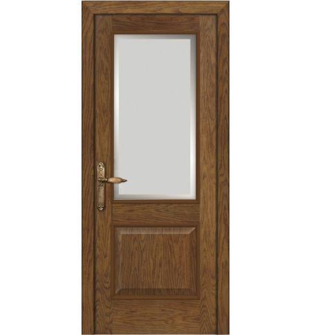 фото: Дверь ПО Твинс дуб миндаль, стекло Фацет из Шпон