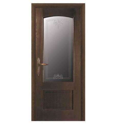 фото: Дверь ПО Рио дуб миндаль, стекло Адонис из Шпон