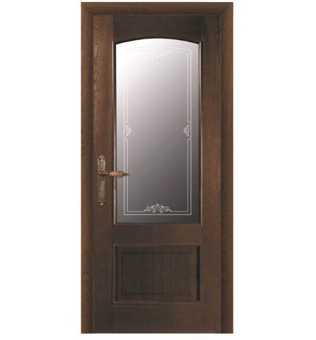 фото: Дверь ПО Рио дуб миндаль, стекло Вояж из Шпон