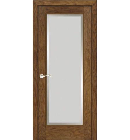 фото: Дверь ПО Монтана дуб миндаль, стекло Фацет из Шпон