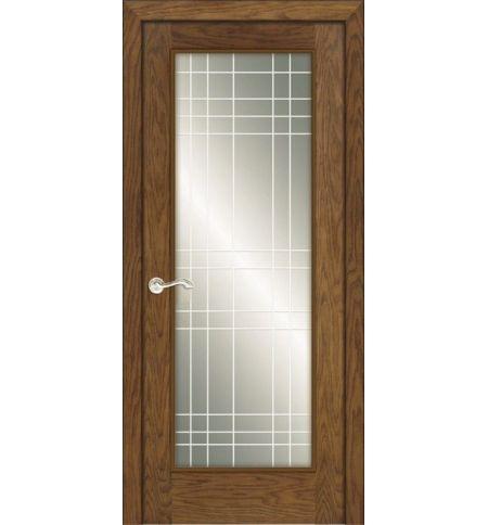 фото: Дверь ПО Монтана дуб миндаль, стекло Сетка из Шпон