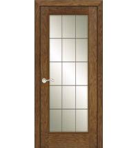 фото: Дверь ПО Монтана дуб миндаль, стекло Клетка из Шпон