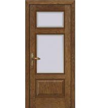 фото: Дверь ПО Монреаль дуб миндаль, стекло Фацет из Шпон