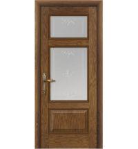 фото: Дверь ПО Монреаль дуб миндаль, стекло Готика из Шпон