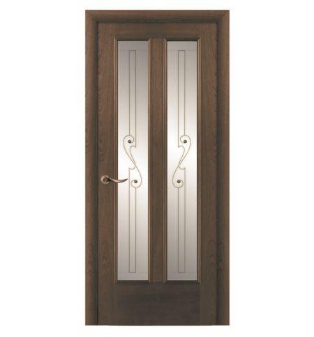 фото: Дверь ПО Бристоль дуб миндаль, стекло Лира из Шпон