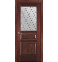 фото: Дверь ПО Пронто красное дерево, стекло Ромб из Шпон