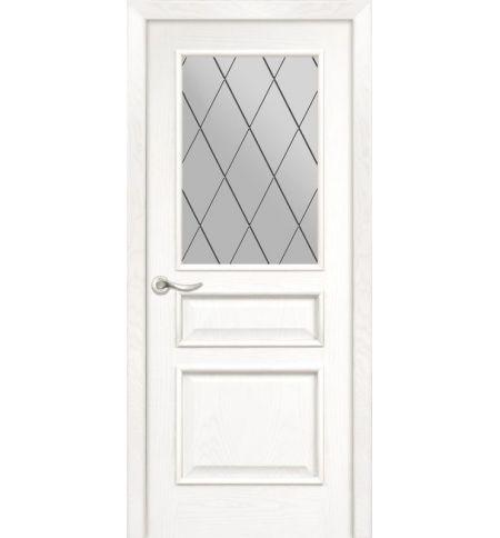 фото: Дверь ПО Пронто ясень бланко, стекло Ромб из Шпон