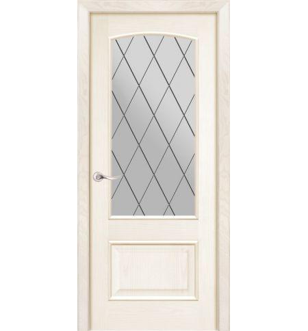 фото: Дверь ПО Рио ясень карамель, стекло Ромб из Шпон