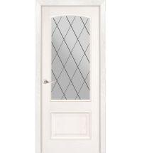 фото: Дверь ПО Рио ясень бланко, стекло Ромб из Шпон