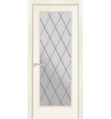 фото: Дверь ПО Монтана ясень карамель, стекло Ромб из Шпон