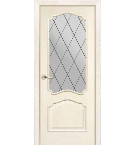 фото: Дверь ПО Сидней ясень карамель, стекло Ромб из Шпон