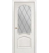 фото: Дверь ПО Сидней ясень бланко, стекло Ромб из Шпон