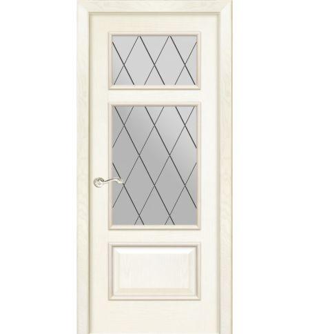 фото: Дверь ПО Монреаль ясень карамель, стекло Ромб из Шпон