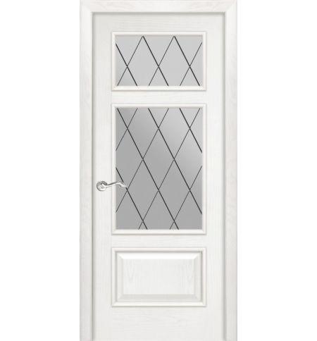 фото: Дверь ПО Монреаль ясень бланко, стекло Ромб из Шпон