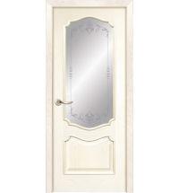 фото: Дверь ПО Тампа ясень карамель, стекло Арабеска из Шпон