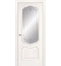 фото: Дверь ПО Тампа ясень бланко, стекло Арабеска из Шпон
