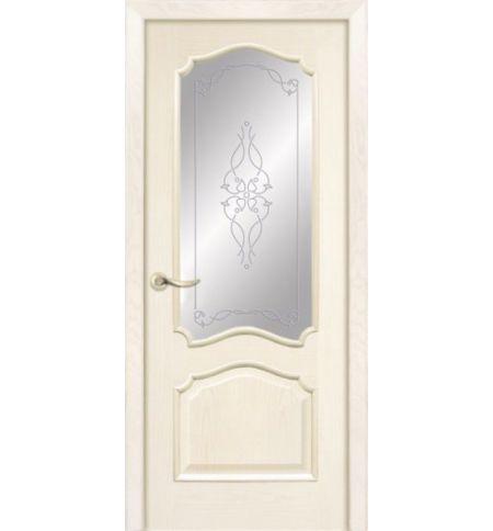 фото: Дверь ПО Сидней ясень карамель, стекло Триумф из Шпон
