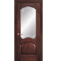 фото: Дверь ПО Сидней красное дерево, стекло Моделло из Шпон