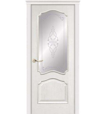 фото: Дверь ПО Сидней ясень бланко, стекло Триумф из Шпон