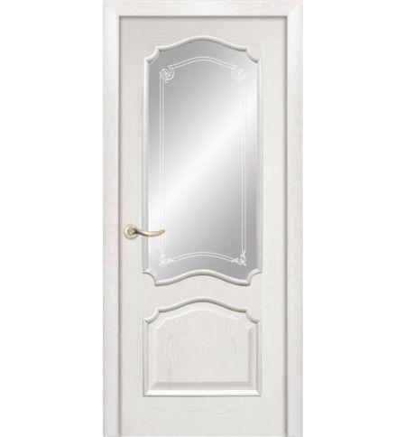 фото: Дверь ПО Сидней ясень бланко, стекло Моделло из Шпон