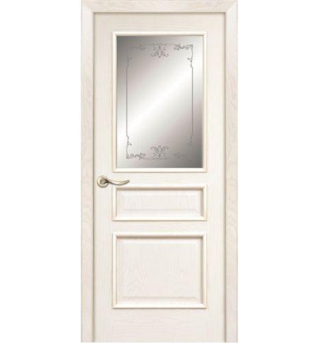 фото: Дверь ПО Пронто ясень карамель, стекло Тюльпан из Шпон