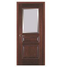 фото: Дверь ПО Пронто красное дерево, стекло Фацет из Шпон