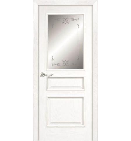 фото: Дверь ПО Пронто ясень бланко, стекло Тюльпан из Шпон