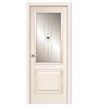 фото: Дверь ПО Твинс ясень карамель, стекло Графика из Шпон