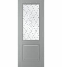 фото: Дверь Грация, тон Серый, стекло сатинат матовое с рис. 1 1-е матирование, гравировка