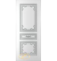 фото: Дверь Блюз, тон белый, патина серебро (акрил)