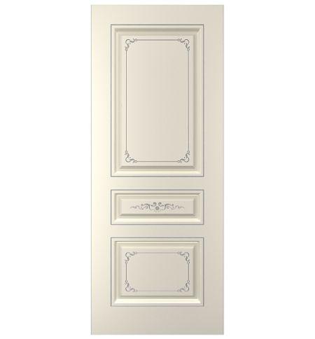 фото: Дверь Блюз-1, тон Ваниль патина серебро (акрил)