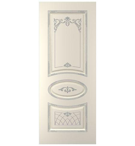 фото: Дверь Ария, тон Ваниль патина серебро (акрил)
