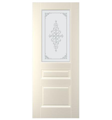 фото: Дверь Санта, тон Ваниль, стекло матовое рис.1