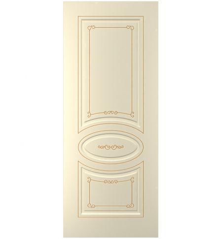 фото: Дверь Прима, тон Крем, патина золото (акрил)